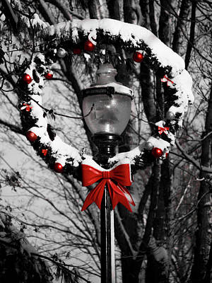 Photograph - Holiday Lamp Post by Rae Tucker