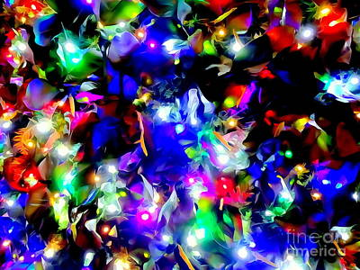 Digital Art - Holiday Lights by Ed Weidman