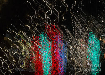 Photograph - Holiday Lights In Abstract by Marianne Jensen