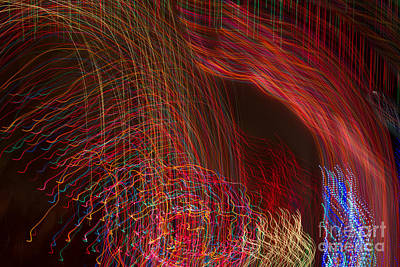 Photograph - Holiday Lights In Motion by Marianne Jensen