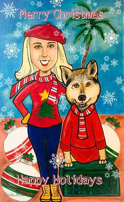 Animation Drawing - Holiday Love by Christine McCole