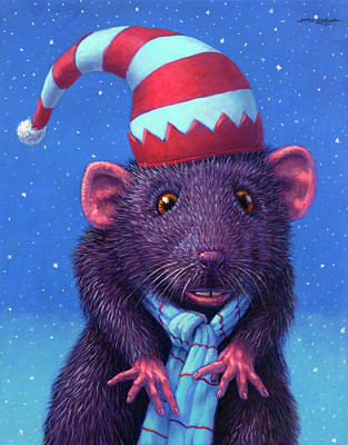 Painting - Holiday Mouse by James W Johnson