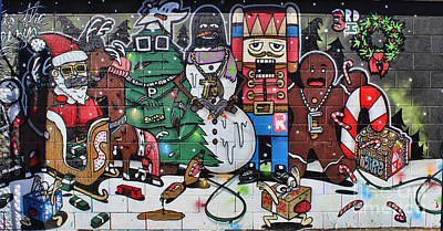 Photograph - Holiday Mural by Steven Parker