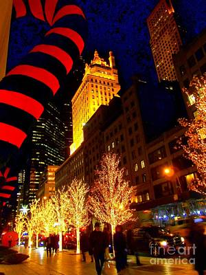 Photograph - Holiday On 57th - Christmas In New York by Miriam Danar