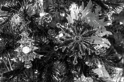 Photograph - Holiday Ornaments Grayscale by Jennifer White