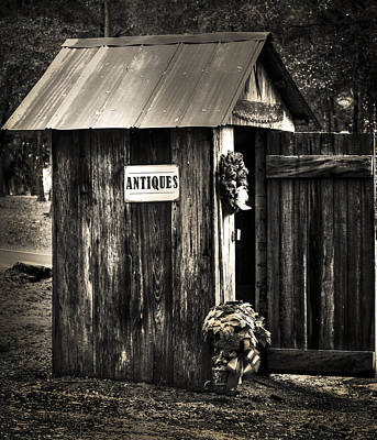 Photograph - Holiday Outhouse 2 by Debra Forand