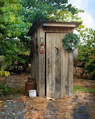 Photograph - Holiday Outhouse by Marty Koch