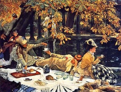 Holiday Picnic 1876 Art Print