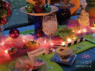 Photograph - Holiday Place Setting  5148 by Jack Schultz