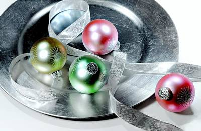 Silver Plated Photograph - Holiday Plate by Diana Angstadt