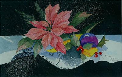 Painting - Holiday Poinsettia by Jerry Kelley