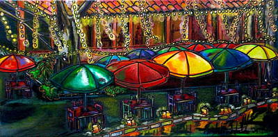 Riverwalk Painting - Holiday Riverwalk by Patti Schermerhorn