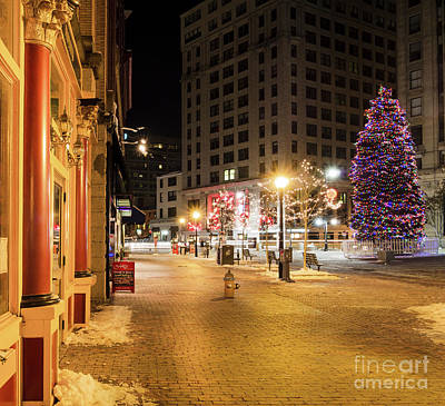 Photograph - Holiday Scene, Portland, Maine  -94575 by John Bald