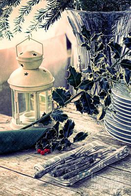 Tableware Digital Art - Holiday Setting  by Ezeepics