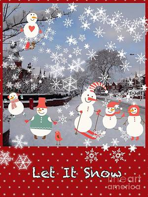 Photograph - Holiday Snow Greeting 2 by Joan-Violet Stretch