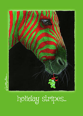 Painting - Holiday Stripes... by Will Bullas