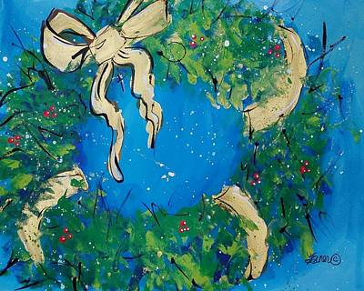 Painting - Holiday Wreath by Terri Einer