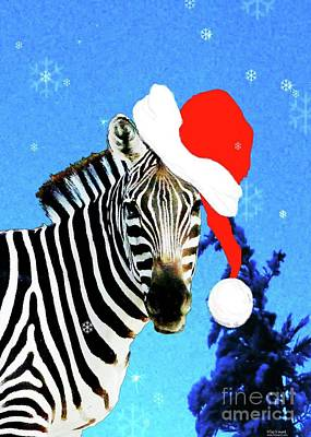 Photograph - Holiday Zebra  by Lizi Beard-Ward