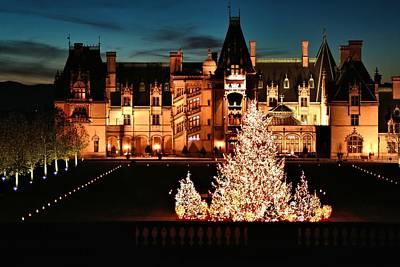 Holidays At Biltmore House Art Print