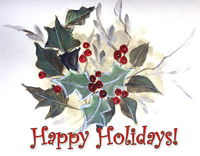 Painting - Holidays Card -1 by Dorothy Maier