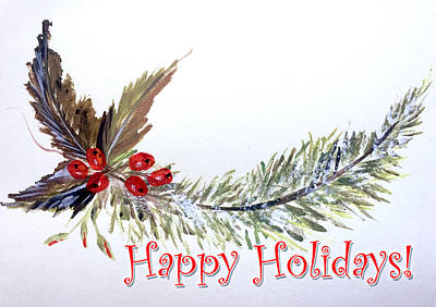 Painting - Holidays Card - 2 by Dorothy Maier