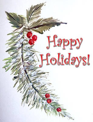 Painting - Holidays Card - 3 by Dorothy Maier