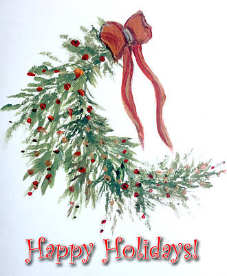 Painting - Holidays Card - 4 by Dorothy Maier
