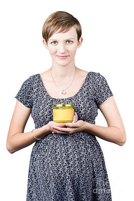 Holistic Naturopath Holding Jar Of Homemade Spread Art Print by Jorgo Photography - Wall Art Gallery