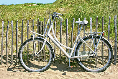 Photograph - Holland - Bicycle In The Dunes by Gabriele Pomykaj
