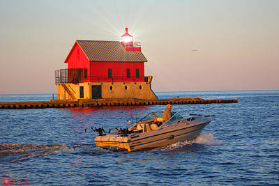 Photograph - Holland Harbor Lighthouse by Michael Rucker