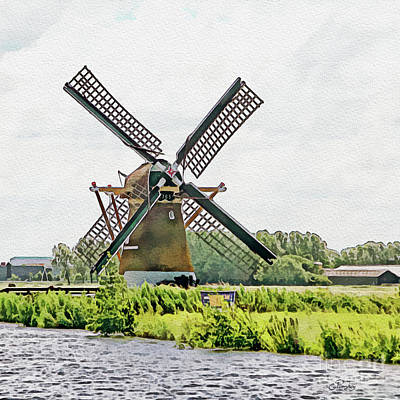 Photograph - Holland - Historic Windmill by Gabriele Pomykaj