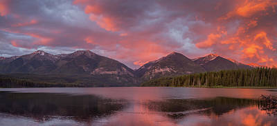 Photograph - Holland Lake Panorama // Swan Valley, Montana by Nicholas Parker