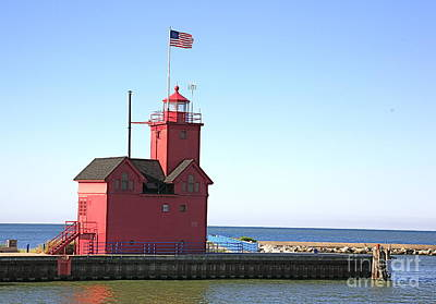 Holland Mi-big Red Art Print by Robert Pearson