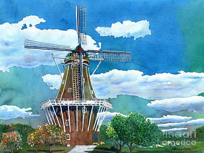 Painting - Holland Michigan Windmill by LeAnne Sowa