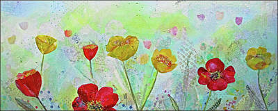 Painting Royalty Free Images - Holland Tulip Festival II Royalty-Free Image by Shadia Derbyshire