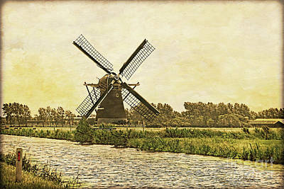 Photograph - Holland - Windmill by Gabriele Pomykaj