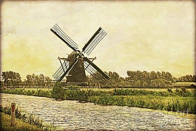 Holland - Windmill Art Print