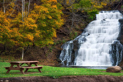 Art Print featuring the photograph Holley Canal Falls by Mark Papke