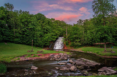 Photograph - Holley Canal Falls Sunset by Mark Papke