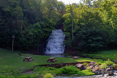 Photograph - Holley Erie Canal Falls by William Norton