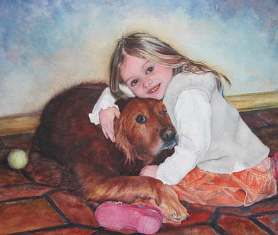 Painting - Hollis And Hannah - Cropped Version by Mary Wykes