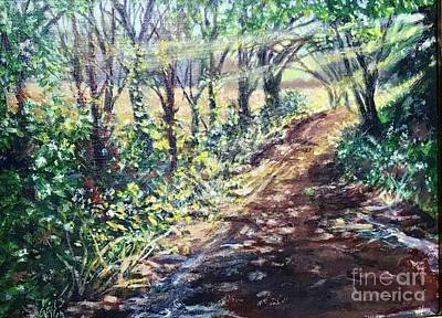 Painting - Hollis Road With Puddles by Gail Allen
