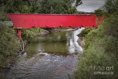 Photograph - Holliwell Covered Bridge by Lynn Sprowl