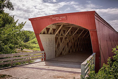 Photograph - Holliwell Covered Bridge by Susan Rissi Tregoning