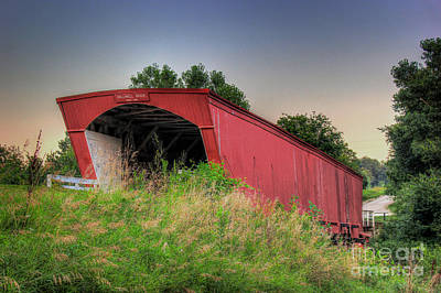 Photograph - Holliwell Covered Bridge by Thomas Danilovich