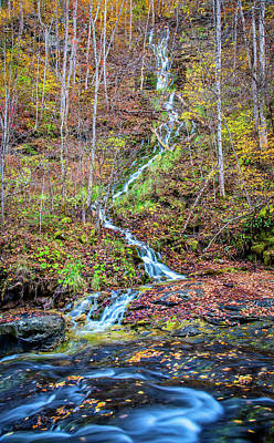 Photograph - Holly Creek Kaymoor Trail Waterfall by Andy Crawford