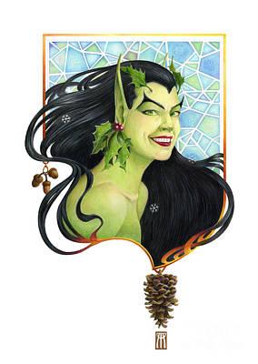 Fantasy Mixed Media - Holly Elf by Melissa A Benson