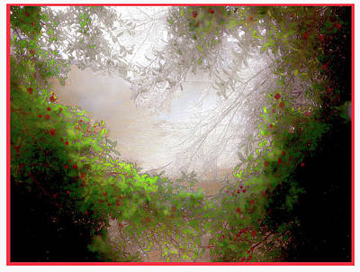 Art Print featuring the photograph Holly Heart by Bonnie Willis
