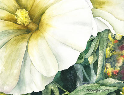 Painting - Holly Hock by Casey Rasmussen White