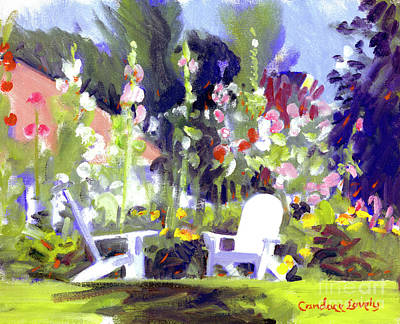 Painting - Holly Hocks by Candace Lovely